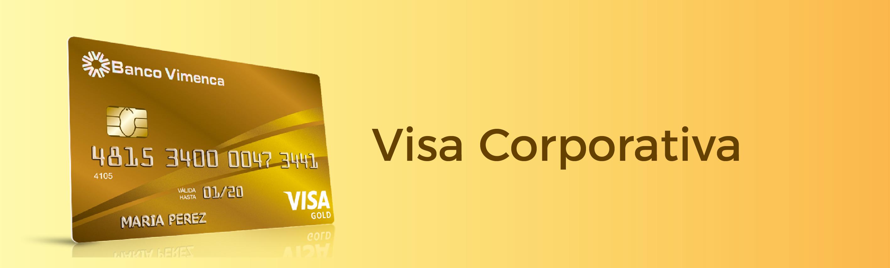 Tarjeta de Crédito Visa Corporativa