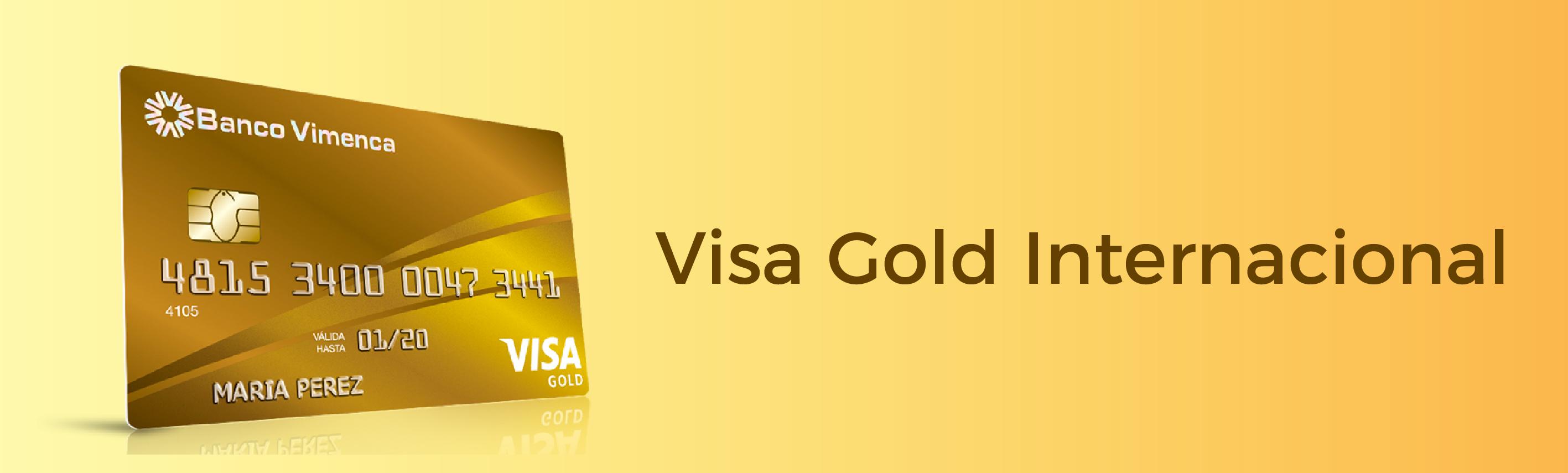 Tarjeta de Crédito Visa Gold Internacional